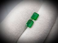 Emerald pair 1.43 ct 6.1 х 4.7 mm